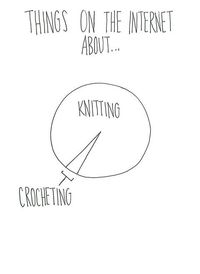 #knitting vs #crochet!