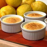 Carla Hall's Lemon Pudding Cake With Orange Liqueur recipe. #thechew