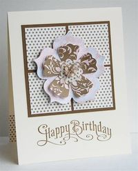 Square and flower card