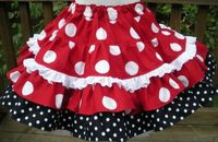 Peasant Skirt with double ruffles and eyelet