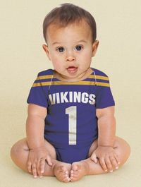Football Jersey Baby Onesie, Personalized NFL, College, HS , Custom Any Team, Sport