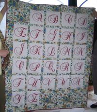 there is a pdf for each letter.  click the letter on the quilt and the pdf will open.