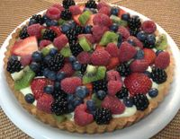 Fruit Tart: The most delicious pastry cream in a wonderful shortbread tart crust topped with glorious fresh summ...[read more at Food Frenzy]