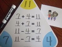 Fact Family Flash cards