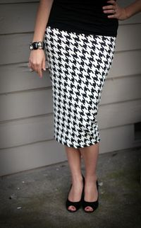 Simple DIY pencil skirt