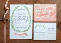 Water color invitations from Oh My Deer
