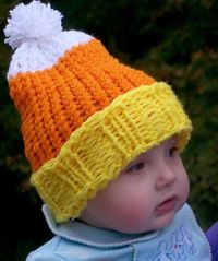 I would like to get back to making the boys some hats in the knifty knitter. Love this candy corn hat.