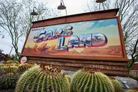 """""""Welcome to Cars Land"""" Sign"""