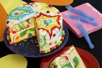 How to Make a Tie-Dyed Cake