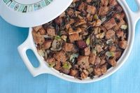 Wild Rice & Bred Stuffing with Roasted Grapes [What Would Cathy Eat?]