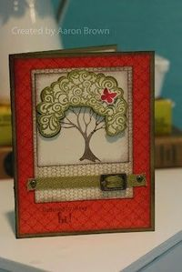 Pretty card by Aaron Brown