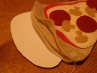 Felt pizza slice tutorial