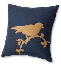 Bird Appliqué Pillow
