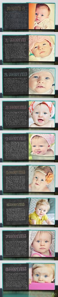 CUTE idea for baby's first year pictures