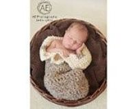 PDF CROCHET PATTERN - Newborn Cocoon with buttons