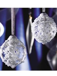 white thread ornaments