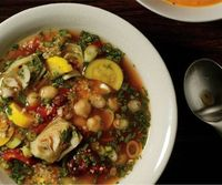 savory Moroccan soup with artichokes & couscous
