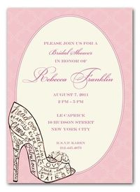 Stunning Shoe Invite