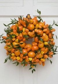 Oranges halloween autumn fall wreaths