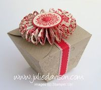 Tutorial to turn Stampin' Up! Petal Cone Die into a Take-Out Style Box -- by Julie Davison, juliedavison.com