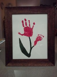 hand print and foot print flower