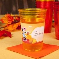 Mickey & Friends Thanksgiving Cup Labels 2012
