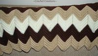Crochet Creative Creations- Free Patterns and Instructions: Crochet Classic Ripple Afghan
