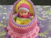 "Hand made Crochet Cradle Purse "" Your choice of colors"" $17.50"