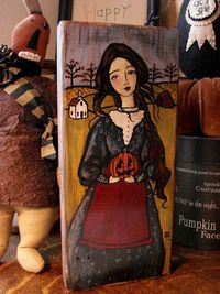 Love this Halloween painting - audrey eclectic - etsy