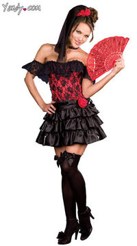 This Spanish beauty will put you in a trance when she does her exotic dance! #halloween #costume #spanish #beauty #sexy