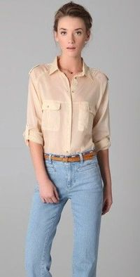 MiH Safari Shirt, $198.00 | www.findbuy.co/store/shopbop-com #MiH