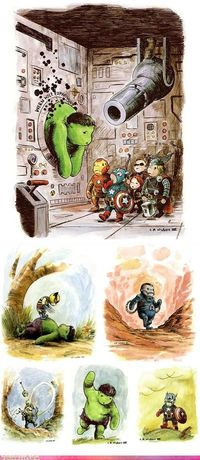 Avengers in the Hundred Acre Woods!