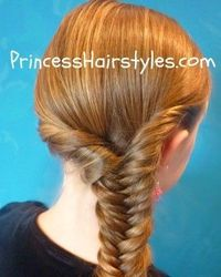 twisted fishtail braid