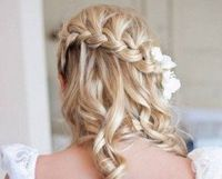 Curly Waterfall Braid hairstyle