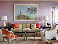 love the lavender & orange and I love the Moroccan and contemporary mix