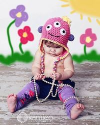 Three Eyed Monster Hat PATTERN PDF File Only by justbehappy, $4.50