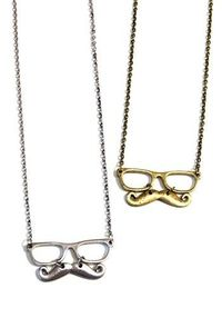 Mustache Necklaces!