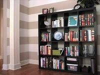 Remodelaholic » Blog Archive Painted Horizontal Striped Office Walls » Remodelaholic