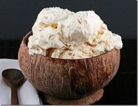 coconut icecream. in a coconut :)