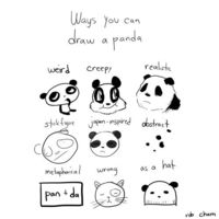 Ways to draw a panda