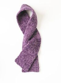 Loom Double Knit Grape Arbor Scarf