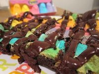 To me these look nasty.. but Coty loves Peeps & Brownies...
