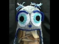 How to crochet an owl beanie - part 1 of 2 - by Brooke Till