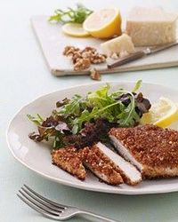 Packed with omega-3 fatty acids, walnuts add richness to this light breading