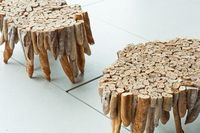 A table made out of baguette bread...wtf?