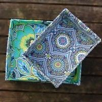Make your own fabric covered boxes with this step by step tutorial.