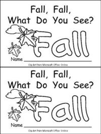"""This emergent reader little book is a great way to begin reading with young students. This story uses a predictable pattern, """"Fall, fall, what do you see?"""" to support emerging readers. This story includes several Fall vocabulary words, such as f..."""