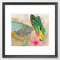 Beauty and the Butterfly framed art print by Catherine Holcombe