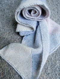 Just Triangles Entrelac Scarf