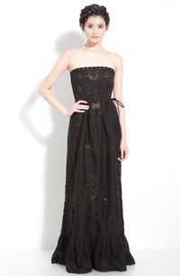 Valentino Point de Flandres Lace Strapless Gown - gorgeous style of dress. In white or cream or ivory or even faint peach.